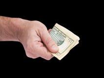 Рука и наличные деньги Стоковое Изображение