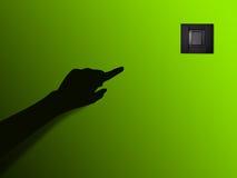 Рука и светлый переключатель Стоковая Фотография RF