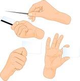 рука карточек иллюстрация вектора
