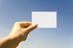 рука карточки Стоковое Изображение RF