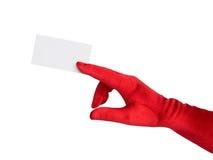 рука карточки Стоковое Изображение
