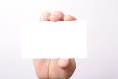 рука карточки Стоковая Фотография RF