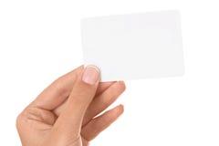 рука карточки Стоковая Фотография