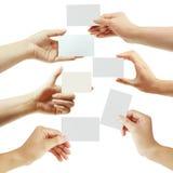 рука карточки Стоковое фото RF
