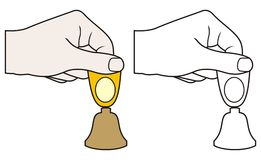 рука колокола малая Стоковые Фотографии RF