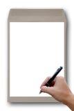 Рука конверта Брайна. Стоковые Изображения