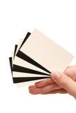 рука контраста визитной карточки Стоковые Фото