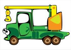 Рука крана шаржа зеленая изолированная на белизне Стоковая Фотография RF