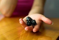 рука кубиков Стоковая Фотография