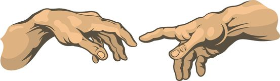 Рука к татуировке руки Стоковые Фото