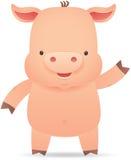 Рука маленькой свиньи развевая Стоковые Изображения