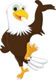 Рука милого шаржа орла развевая Стоковое Изображение
