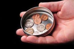 рука монетки Стоковые Фото
