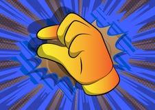 Рука мультфильма вектора показывая жестами небольшое количество бесплатная иллюстрация