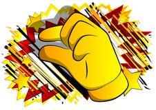 Рука мультфильма вектора показывая жестами небольшое количество иллюстрация вектора