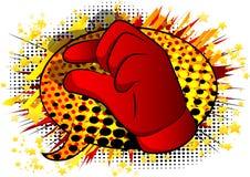 Рука мультфильма вектора показывая жестами небольшое количество иллюстрация штока