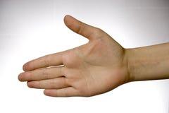 рука над белизной Стоковое Изображение