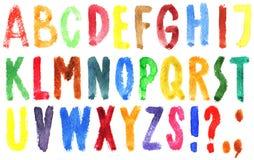 рука нарисованная алфавитом Стоковое Фото