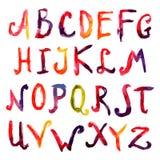 рука нарисованная алфавитом Стоковые Изображения