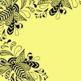 рука нарисованная предпосылкой флористическая Стоковые Фотографии RF