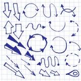 рука нарисованная стрелками Стоковые Изображения RF