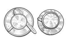 рука нарисованная чашкой иллюстрация вектора