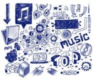рука нарисованная doodles Стоковая Фотография RF
