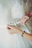 Рука на белизне Стоковые Фотографии RF
