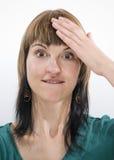 Рука на голове direktly Стоковая Фотография