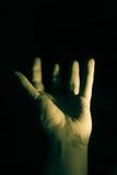 Рука низкого ключа открытая Стоковые Фотографии RF