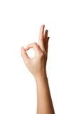рука одобренный s показывая знак Стоковое Изображение RF