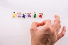 Рука около диаграмм Стоковые Фотографии RF