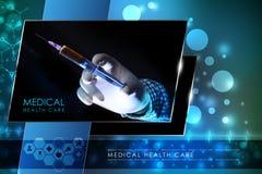Рука доктора с шприцем Стоковые Фото