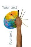 Рука палитры Стоковое Изображение RF