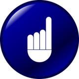 рука перста кнопки указывая вверх по вектору иллюстрация штока