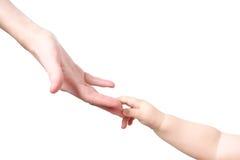 рука перста ребенка Стоковые Фото
