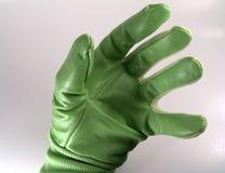 рука перчатки зеленая стоковое фото