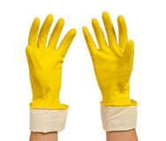 рука перчатки Стоковая Фотография