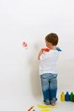 рука печатает стену Стоковые Фотографии RF
