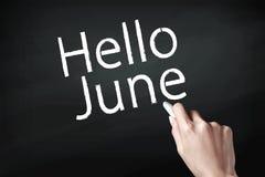 Рука писать июнь стоковое фото