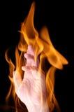 рука пламени стоковые изображения rf