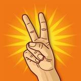 Рука, победитель и победа Стоковые Фото