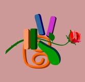 Рука, побед-Роза стоковые изображения rf