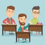 Рука повышения студента в классе для ответа Стоковые Изображения RF