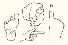 Рука показывая знак смоквы бесплатная иллюстрация
