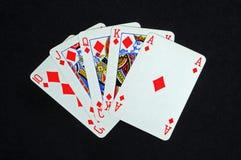 Рука покера королевского притока. Стоковые Фотографии RF