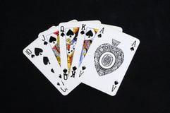 Рука покера королевского притока. Стоковое фото RF