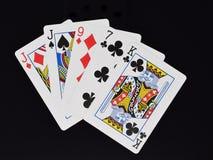 Рука покера одна пара Стоковое Изображение RF