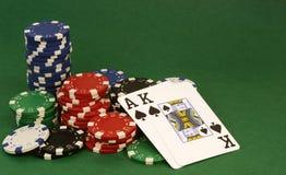 Рука покера Стоковое Фото