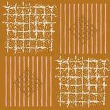 Рука покрасила решетки, striped квадраты и диаманты в геометрическом дизайне Безшовная картина вектора на предпосылке карамельки иллюстрация штока